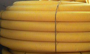 Drenážní trubky žluté Image